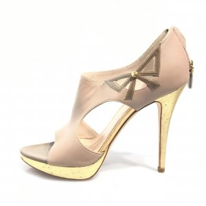 Christian Dior High-Heeled Sandals beige