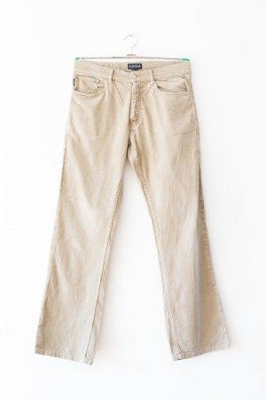 H&M L.O.G.G. Pantalone di velluto a coste bianco sporco Cotone