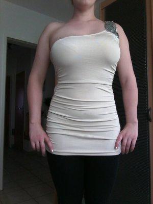 Tally Weijl Camisa de un solo hombro beige claro