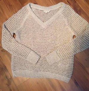 Beige Damen Pullover Locker gestrickter