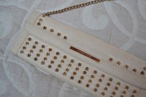 Beige Designer Tasche Elisabetta Franchi mit Nieten