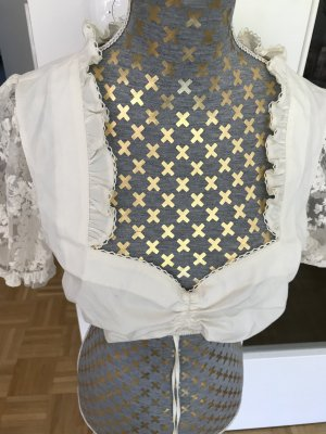 MarJo Blusa folclórica blanco puro-crema