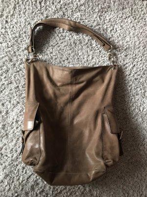 Beige-farbene Handtasche von Vera Pelle