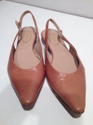 Sandales doré cuir