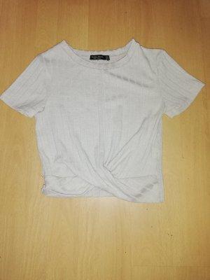 Bershka Camicia cropped beige chiaro-beige
