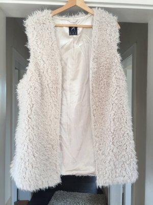 Vest van imitatiebont room-beige