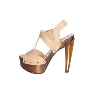 Fendi High-Heeled Sandals beige