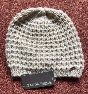Gaudi Chapeau en tricot beige clair