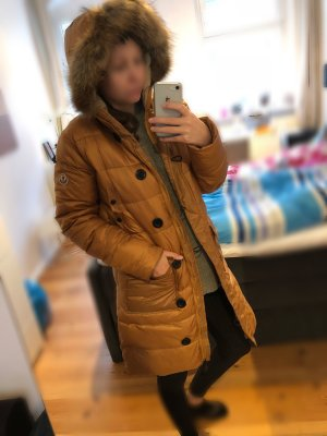 Beige/goldbraune Moncler Wintermantel