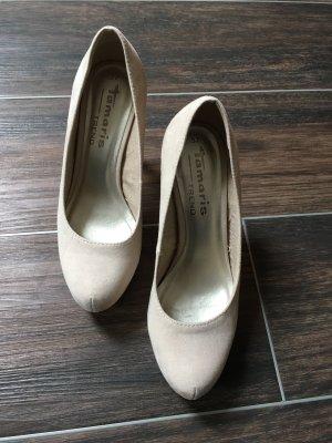 Beige/Goldene High Heels von Tamaris