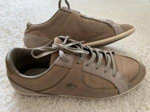 Beige/goldene Lacoste Sneaker Gr. 39