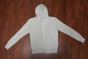 beige - graue Sweatshirt / Strickjacke mit Kapuze