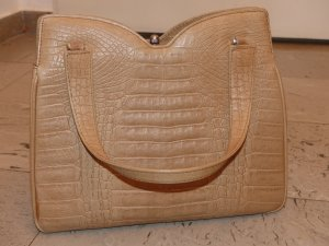 Carry Bag oatmeal-beige imitation leather