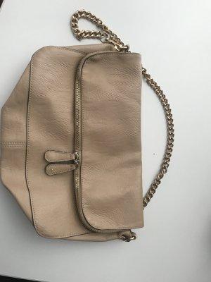 Beige Handtasche mit Kette