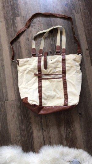 H&M Carry Bag cream-brown