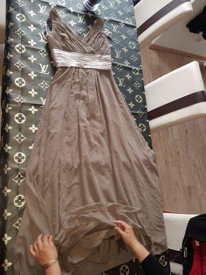 Beige Hellbraunes Kleid Elegant Neu
