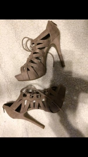 Beige High Heels Pumps