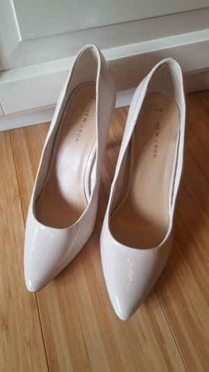 beige High Heels Pumps von New Look