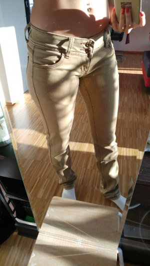 Low-Rise Trousers sand brown
