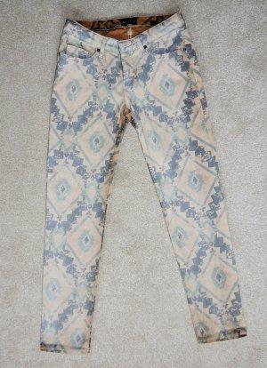 Laura Scott Pantalone cinque tasche multicolore Cotone