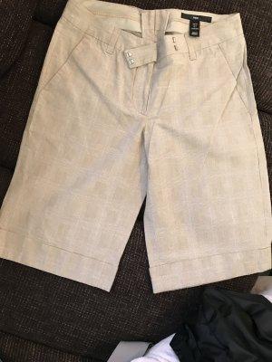 Beige Hose Shorts kurz kariert von H&M, Größe 34