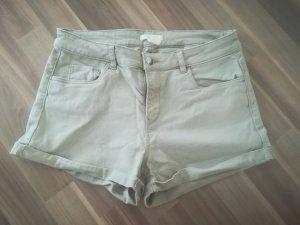 H&M Short beige clair coton