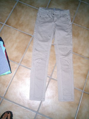 Stretch jeans beige-munt