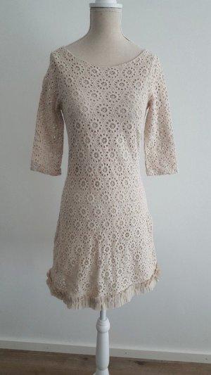 Zara Vestido línea A crema