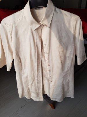 Beige kurzärmelige Bluse von Eterna Premium in Größe 38, NEU