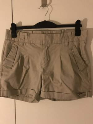 Pull & Bear Pantalón de pinza crema Algodón