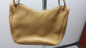 Beige Leder Handtasche