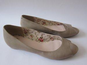 Görtz17 Peep Toe Ballerinas mauve leather