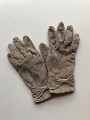 Leather Gloves beige