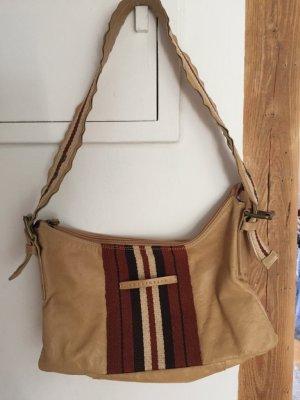 Beige Lederhandtasche von Coccinelle