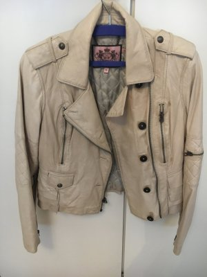 Beige Lederjacke von Juicy Couture