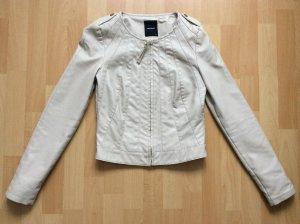 Beige Lederjacke von Vero Moda in der Größe xs