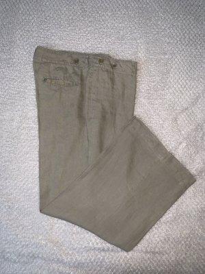 Zero Linen Pants beige-grey brown