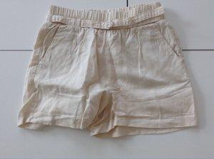 Beige luftige Shorts