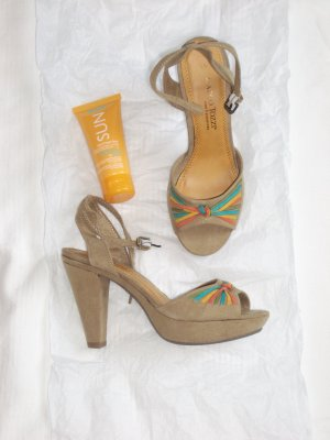 Marco Tozzi Strapped High-Heeled Sandals multicolored imitation leather