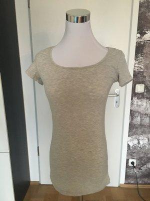 Beige meliertes, eng anliegendes T-Shirt von Vero Moda, XS