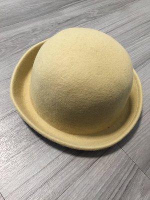 Beige Melone Filzhut