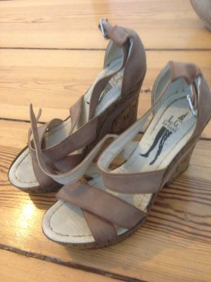 Fresh made High Heel Sandal multicolored imitation leather