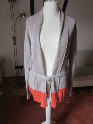 beige-orange Strickjacke Gr.S