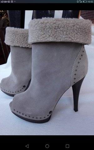 Miss Sixty Peep Toe Booties oatmeal