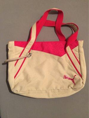 Beige/Pinke Sporttasche von Puma