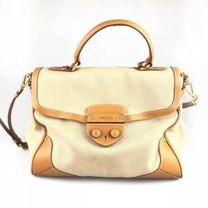 Beige Prada Shoulder Bag
