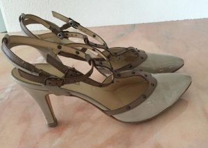 Paul Green Strapped pumps beige-light brown leather