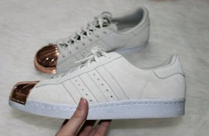 beige rosegoldene Adidas Mettal Toe 40 2/3