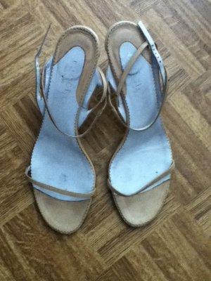 beige Sandalen, Größe 38
