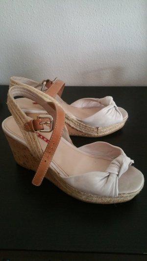 beige Sandallen von Prada